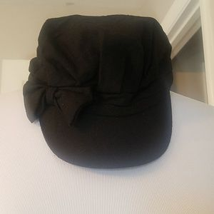 SOLD-Black cap with bow